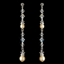 Elegance by Carbonneau E-9718-S-IV Silver Ivory Pearl & Swarovski Crystal Bead Dangle Earrings 9718