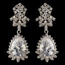 Elegance by Carbonneau E-9734-RD-CL Rhodium Clear Teardrop CZ Crystal Drop Earrings 9734