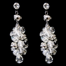 Elegance by Carbonneau Antique Rhodium Silver Clear Swarovski Crystal Bead Earrings 9866