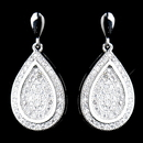 Elegance by Carbonneau E-9965-AS-Clear Antique Silver Clear CZ Crystal Dangle Earrings 9965