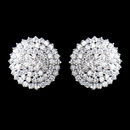 Elegance by Carbonneau E-9966-AS-Clear Antique Silver Clear CZ Crystal Round Earrings 9966