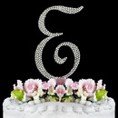 Elegance by Carbonneau E-Completely-Covered Completely Covered ~ Swarovski Crystal Wedding Cake Topper ~ Letter E