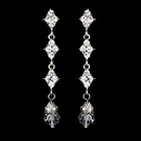 Elegance by Carbonneau Earring-E-937silverclear Elegant Silver & Clear Crystal Drop Earrings E 937