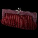 Elegance by Carbonneau EB-304-Burgundy Burgundy Satin Beaded Rhinestone Bridal Evening Bag