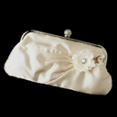 Elegance by Carbonneau EB-315-Clip-443 Satin Crystal Evening Bag 315 with Jeweled Delphinium Flower Clip 443
