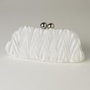 Elegance by Carbonneau EB-317-Cream Cream Satin Evening Bag 317