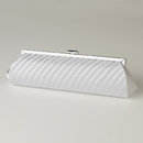 Elegance by Carbonneau EB-319-White White Pleated Satin Evening Bag 319
