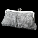Elegance by Carbonneau EB-331-S-Clear Silver Clear Crystal Evening Bag 331