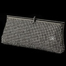 Elegance by Carbonneau EB-337-B-CL Clear Rhinestone Covered Black Evening Bag 337
