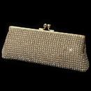 Elegance by Carbonneau EB-9-G Gold Clear Rhinestone Evening Bag
