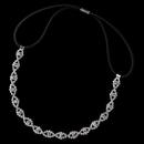 Elegance by Carbonneau Elastic-167-S-CL Silver Clear Rhinestone Hair Elastic Headband 167