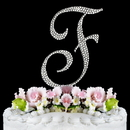 Elegance by Carbonneau F-Completely-Covered Completely Covered ~ Swarovski Crystal Wedding Cake Topper ~ Letter F