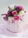 Elegance by Carbonneau FB-3-Pk Pink Bridal Flower Girl Basket FB 3