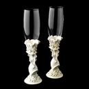 Elegance by Carbonneau FL-100-Sweet-15-White White 'Sweet 15' Girl Wedding Toasting Champagne Flutes