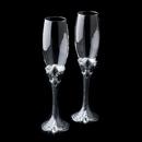 Elegance by Carbonneau FL-1757-FleurDeLis Alluring Fleur De Lis Toasting Champagne Flutes 1757