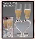 Elegance by Carbonneau FL-21055 Joined Heart Wedding Toasting Champagne Flutes FL 21055