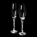 Elegance by Carbonneau FL-Black-Swirl-833 FL 833 Black & White Swirl Flutes