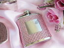 Elegance by Carbonneau Flask-Pink-21011 Pink Crystal Flask 21011