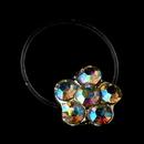 Elegance by Carbonneau Flower-Toe-Ring-2-AB Silver-AB Rhinestone Flower Toe Ring 2