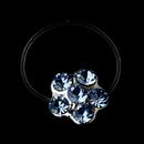 Elegance by Carbonneau Flower-Toe-Ring-2-LTBL Silver-Light Blue Rhinestone Flower Toe Ring 2