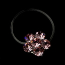 Elegance by Carbonneau Flower-Toe-Ring-2-PK Silver-Pink Rhinestone Flower Toe Ring 2