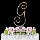 Elegance by Carbonneau G-Renaissance-Gold Renaissance ~ Swarovski Crystal Wedding Cake Topper ~ Gold Letter G