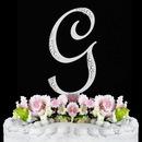 Elegance by Carbonneau G-Sparkle-Silver Sparkle ~ Swarovski Crystal Wedding Cake Topper ~ Silver Letter G