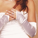 Elegance by Carbonneau GL-212V-16S Satin Fingerless Opera Gloves GL 212 V 16 S