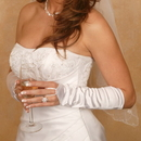 Elegance by Carbonneau GL-212V-8E Satin Fingerless Elbow Length Bridal Glove GL 212 V 8 E