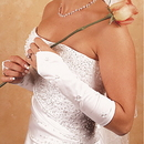 Elegance by Carbonneau GL-215-8E Floral Fingerless Bridal Gloves GL 215 8 E