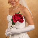Elegance by Carbonneau GL-217-12A Ring Finger Bridal Glove GL217-12A