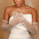 Elegance by Carbonneau GL-70001-12A Formal or Bridal Gloves Style GL70001-12A