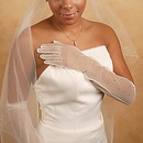Elegance by Carbonneau GL-7004 Sheer Rhinestone Bridal Glove GL7004-12A
