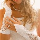 Elegance by Carbonneau GL-8001-8E Embroidered Fingerless Bridal Gloves GL 8001 E