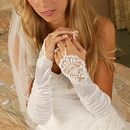 Elegance by Carbonneau GL-9053-8E Elegant Fingerless Bridal Glove GL 9053 E