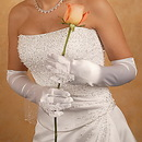 Elegance by Carbonneau GL-9055-12A Bridal Ring Finger Satin Gloves GL9055-12A