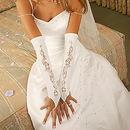 Elegance by Carbonneau GL-9130-12A Designer Fingerless Bridal Glove GL 9130 A