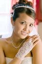 Elegance by Carbonneau GL-9132_2W GL 9132-2W Elegant sheer wrist length bridal glove with floral embroidery
