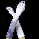 Elegance by Carbonneau Glove-Satin-116-Lilac Satin Bridal Bridesmaid Gloves - Lilac
