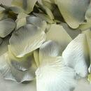 Elegance by Carbonneau grey-blue-ivory-rose-petals Gray / Blue / Ivory Rose Petals (100 Count) #16