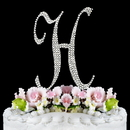 Elegance by Carbonneau H-Completely-Covered Completely Covered ~ Swarovski Crystal Wedding Cake Topper ~ Letter H