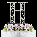 Elegance by Carbonneau H-Roman Romanesque ~ Swarovski Crystal Wedding Cake Topper ~ Letter H