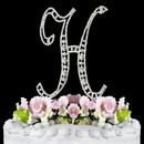 Elegance by Carbonneau H-Vintage Vintage ~ Swarovski Crystal Wedding Cake Topper ~ Letter H