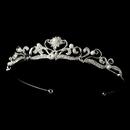 Elegance by Carbonneau HP-102 Pearl and Crystal Bridal Tiara HP 102