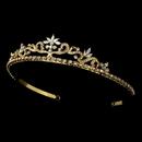Elegance by Carbonneau HP-11109-G Gold Floral Bridal Tiara HP 11109