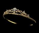 Elegance by Carbonneau HP-11109-G-Clear Floral Tiara HP 11109 Gold Clear (no pearl)
