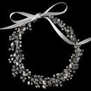 Elegance by Carbonneau HP-1214-RD-FW Rhodium Freshwater Pearl & Swarovski Crystal Bead Vine Headband HP 1214