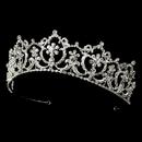 Elegance by Carbonneau HP-13091-S-Clear Crystal Bridal Headpiece Tiara HP 13091