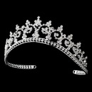 Elegance by Carbonneau HP-167 Royal Rhinestone Crown Tiara in Radiant Silver 167