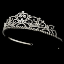 Elegance by Carbonneau HP-1774-S-Clear Crystal Princess Bridal Tiara HP 1774 (Silver or Gold)